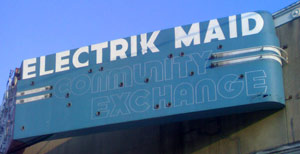 Electric Maid sign